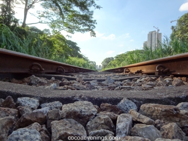 on the railway track ktm malaysia singapore