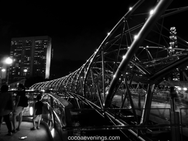 the helix black and white at marina bay sands singapore