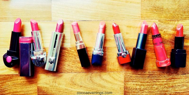 high end luxury brands red lipsticks