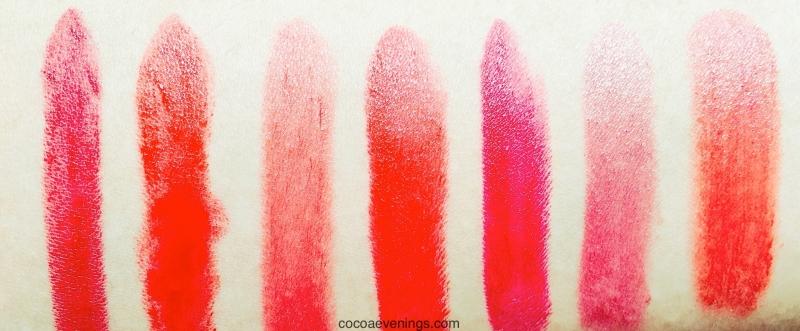 my drugstore red lipsticks swatched