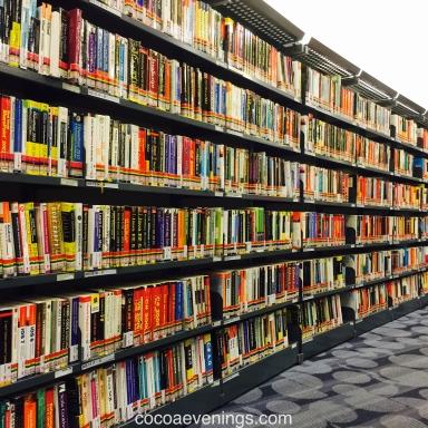books bookshelves national library singapore