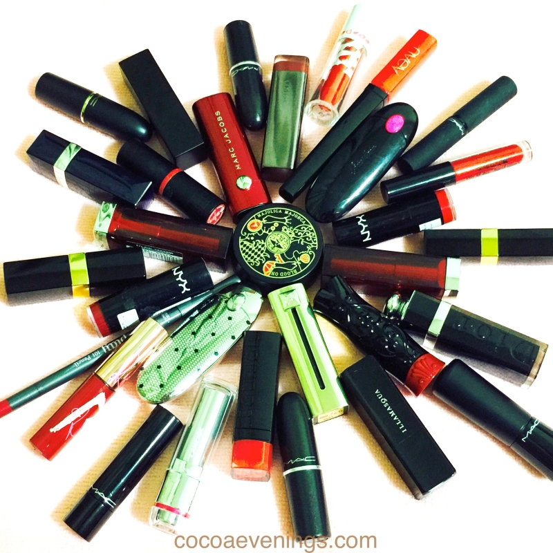 red lipsticks collection