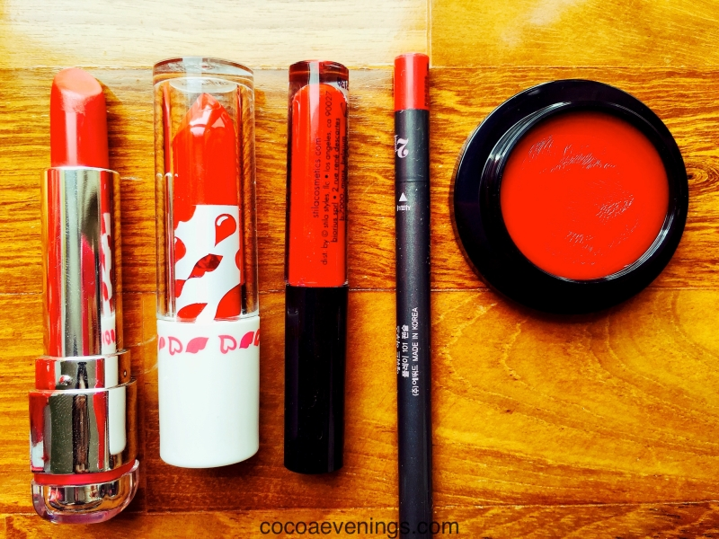 my miscellaneous red lip products