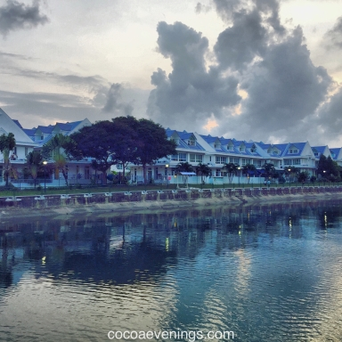 beautiful cottages besides canal at tanah merah